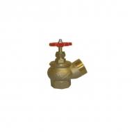 Клапан КПЛ латунный 50-1 125° муфта - цапка