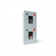 Шкаф под пожарный кран встроенный 2 огнетушителя (открытый) ШПКО-320 ВОКУ/ВОБУ