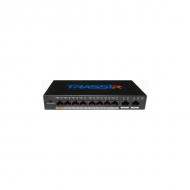 PoE-коммутатор TRASSIR TR-NS1010-96-8POE с 8 PoE-портами и дальностью питания до 250 м