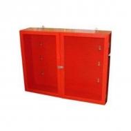Щит №4 пожарный закрытый металлический (неукомплектованный) 1300*1000*300мм дверь с оргстеклом